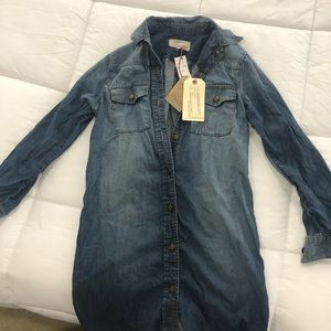 Current/Elliot button up jean dress size 0 NWT